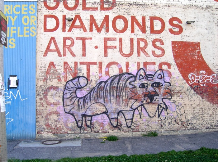 tiger grafitti