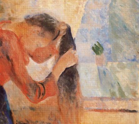 munch girl combing her hair 1892 rasmus meyer collection bergen norway