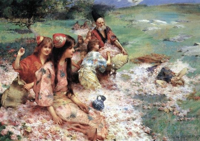 Mowbray,_Henry_Siddons_-_Rose_Harvest_-_1887