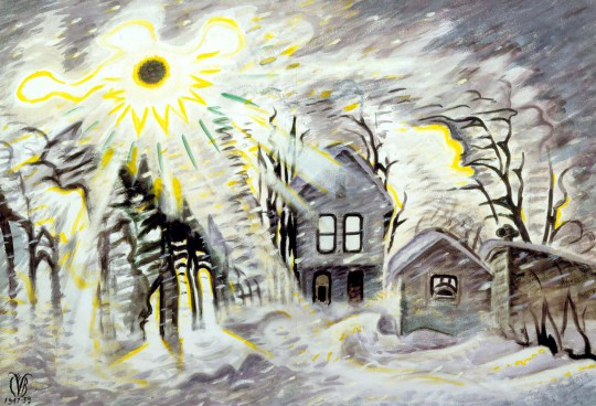 burchfield sunshine during blizzard