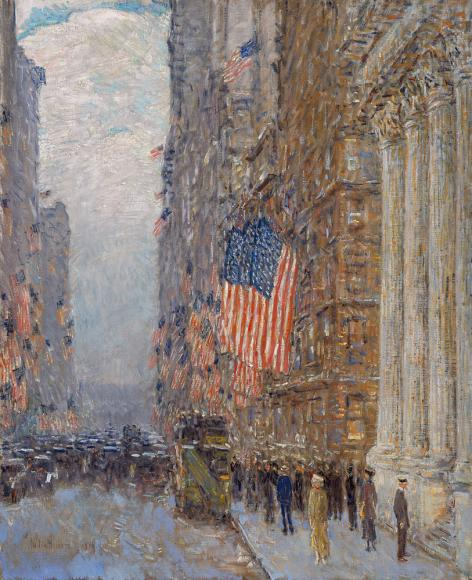 Childe Hassam, Flags on the Waldorf, 1916. Amon Carter Museum of American Art, Fort Worth, Texas.