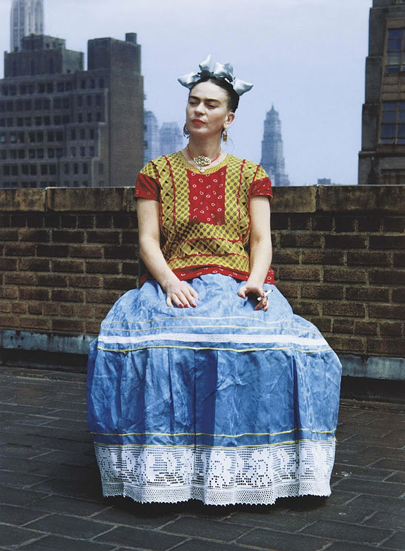 Frida Kahlo, photographed in New York City by Nickolas Muray (1946)